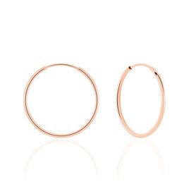 Créoles Dominae Flexible Rondes Or Rose - Boucles d'oreilles créoles Femme   Histoire d'Or