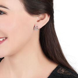 Boucles D'oreilles Puces Eliseum Argent Blanc Oxyde De Zirconium - Boucles d'oreilles fantaisie Femme | Histoire d'Or