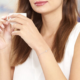Bracelet Sirin Argent Blanc Oxyde De Zirconium - Bracelets Plume Femme | Histoire d'Or