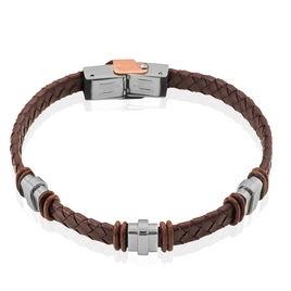Bracelet Eliott Acier Blanc - Bracelets fantaisie Homme   Histoire d'Or