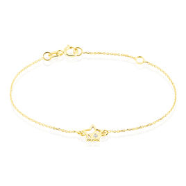 Bracelet Terentille Etoile Or Jaune Oxyde De Zirconium - Bracelets Naissance Enfant | Histoire d'Or
