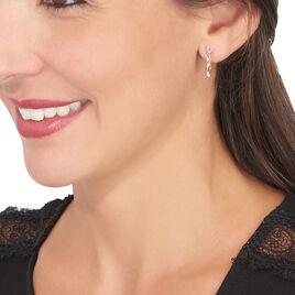 Boucles D'oreilles Pendantes Emelyne Or Rose Diamant - Boucles d'Oreilles Coeur Femme | Histoire d'Or