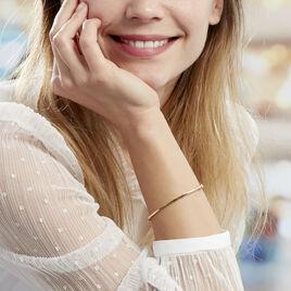 Bracelet Jonc Cynthia Fil Carre Lisse Or Jaune - Bracelets joncs Femme | Histoire d'Or