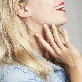 Boucles D'oreilles Pendantes Helsa Argent Blanc - Boucles d'Oreilles Infini Femme | Histoire d'Or