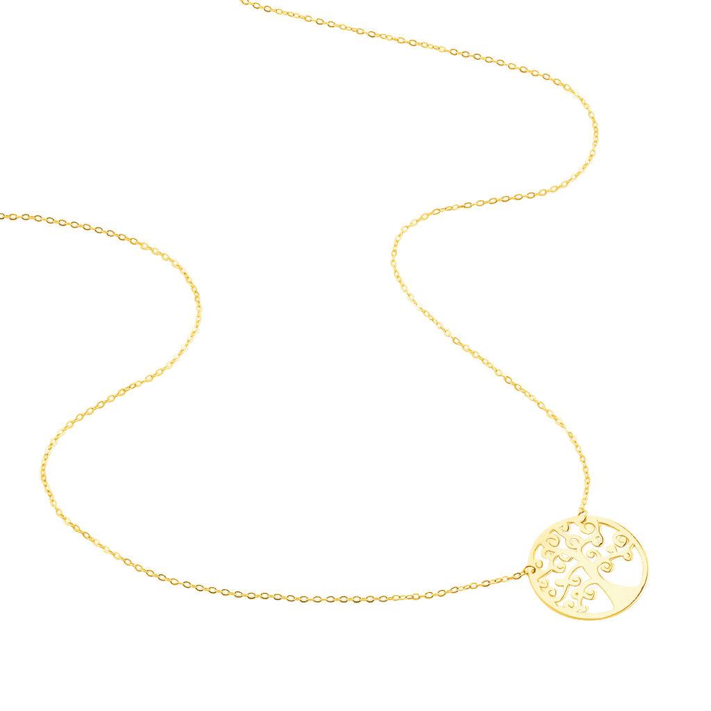 Collier Clemenca Or Jaune - Colliers Arbre de vie Femme   Histoire d'Or