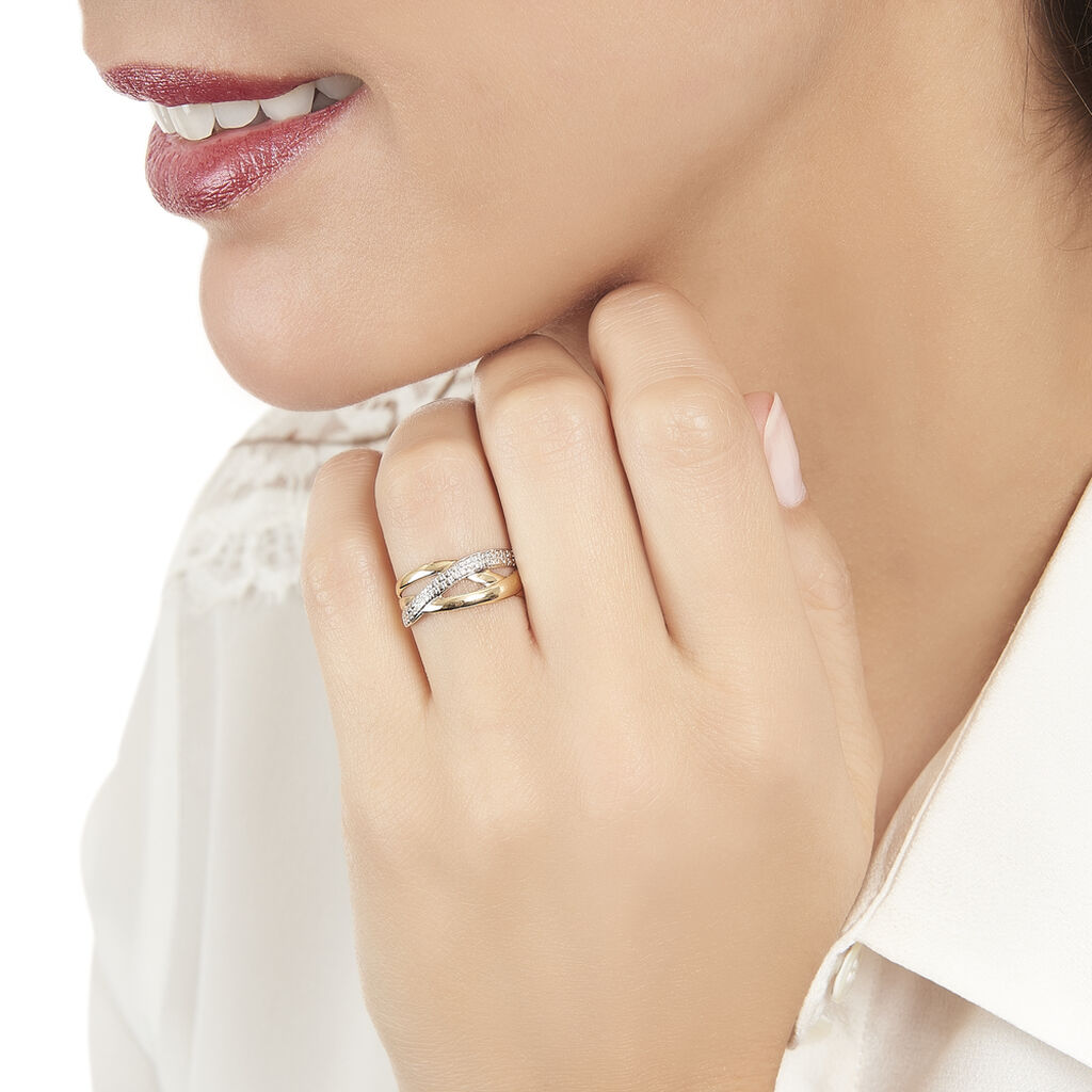 Bague Nuccia Or Bicolore Diamant