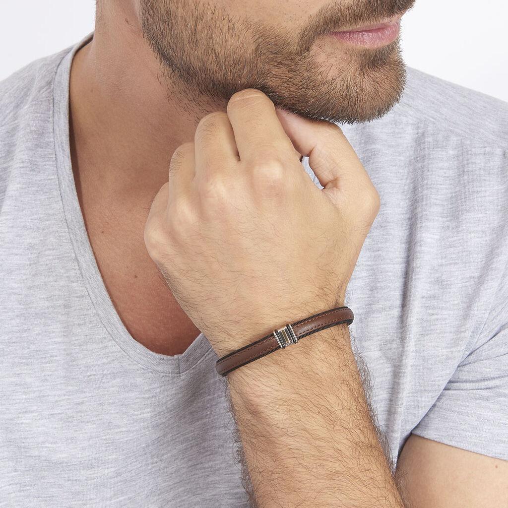 Bracelet Luciene Or Acier Bicolore - Bracelets fantaisie Homme | Histoire d'Or