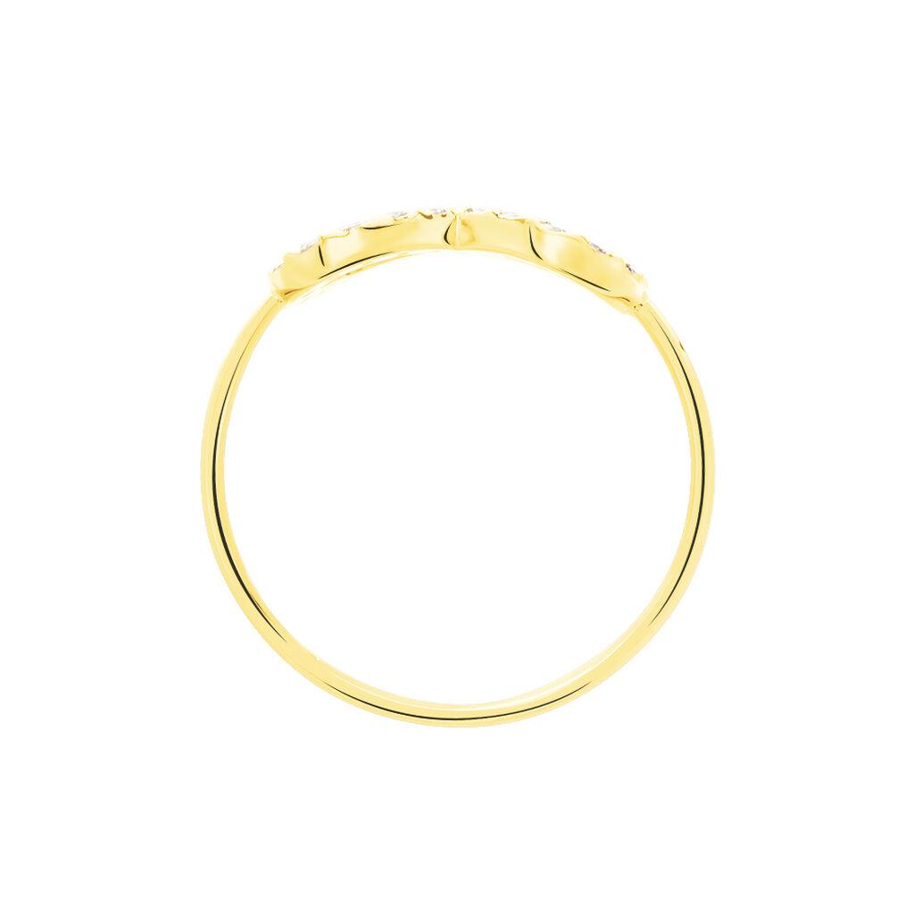 Bague Klothilda Or Jaune Oxyde De Zirconium - Bagues Infini Femme | Histoire d'Or