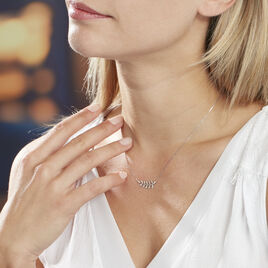 Collier Abbey Or Blanc Diamant - Colliers Plume Femme | Histoire d'Or