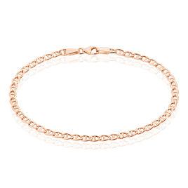 Bracelet Capucin Maille Marine Plate Or Rose - Bracelets chaîne Femme | Histoire d'Or