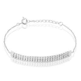 Bracelet Mayssane Argent Blanc Oxyde De Zirconium - Bracelets fantaisie Femme   Histoire d'Or