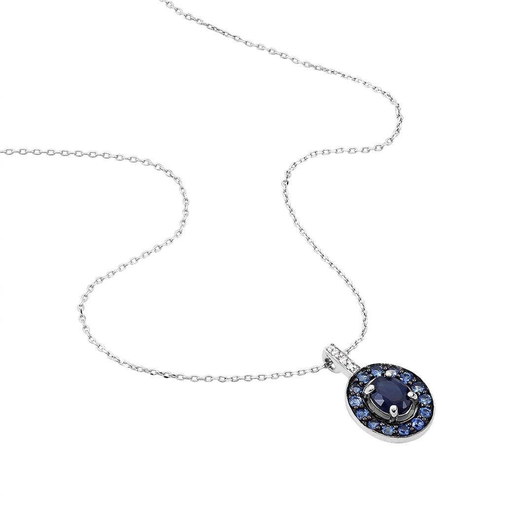 Collier Leona Or Blanc Saphir Diamant - Bijoux Femme | Histoire d'Or