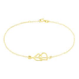 Bracelet Or Jaune Chaine Pendante Cœur - Bracelets Coeur Femme | Histoire d'Or