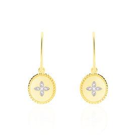 Boucles D'oreilles Puces Austina Or Jaune Diamant - Clous d'oreilles Femme   Histoire d'Or