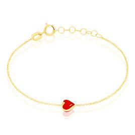 Bracelet Coralie Coeur Or Jaune - Bracelets Coeur Enfant | Histoire d'Or