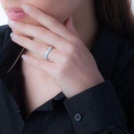 Bague Isais Or Blanc Diamant - Bagues avec pierre Femme | Histoire d'Or