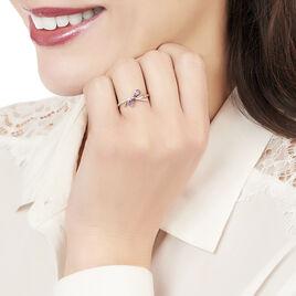 Bague Ilda Or Rose Amethyste Et Diamant - Bagues avec pierre Femme | Histoire d'Or