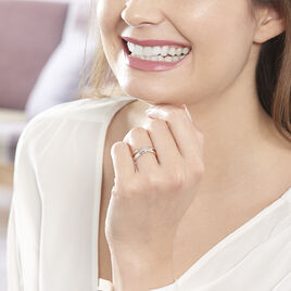 Bague Tonnia Or Bicolore Diamant - Bagues avec pierre Femme | Histoire d'Or