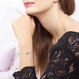 Bracelet Argent Sirene Cristaux De Swarovski Bleus - Bracelets fantaisie Femme | Histoire d'Or
