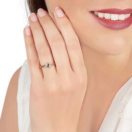 Bague Nelle Or Blanc Diamant - Bagues avec pierre Femme   Histoire d'Or