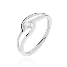 Bague Onenn Or Blanc Diamant - Bagues solitaires Femme | Histoire d'Or