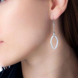 Boucles D'oreilles Pendantes Soelie Argent Blanc - Boucles d'oreilles fantaisie Femme   Histoire d'Or