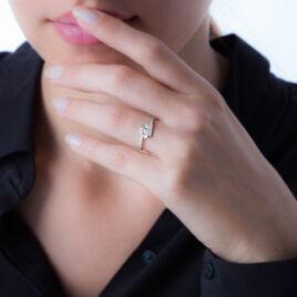 Bague Trilogie Or Blanc Diamant - Bagues avec pierre Femme   Histoire d'Or
