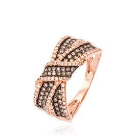 Bague Agnes Or Rose Diamant - Bagues avec pierre Femme | Histoire d'Or