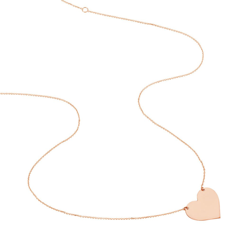 Collier Coeur Gravable Or Rose - Colliers Coeur Femme | Histoire d'Or