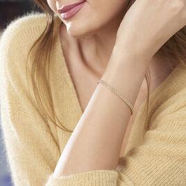 Bracelet Jerry Maille Corde 2 Rangs Or Jaune - Bijoux Femme   Histoire d'Or