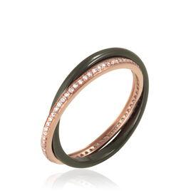 Bague Delicia Or Rose Céramique Et Oxyde De Zirconium - Bagues avec pierre Femme | Histoire d'Or