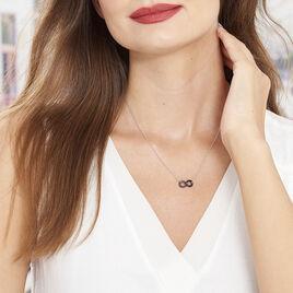 Collier Alicia Argent Blanc Céramique - Colliers Infini Femme | Histoire d'Or