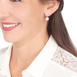 Bijoux D'oreilles Norah Or Jaune Perle De Culture Et Oxyde - Ear cuffs Femme | Histoire d'Or