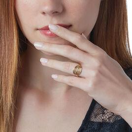 Bague Plaque Or Jaune - Bagues Plume Femme   Histoire d'Or
