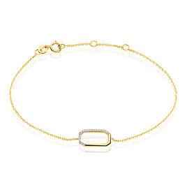 Bracelet Or Jaune Diamant - Bijoux Femme   Histoire d'Or