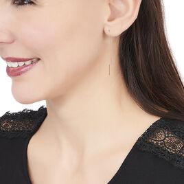 Boucles D'oreilles Pendantes Pink Or Rose - Boucles d'oreilles pendantes Femme | Histoire d'Or