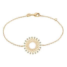 Bracelet Cilla Plaque Or Jaune Pierre De Synthese - Bracelets fantaisie Femme   Histoire d'Or