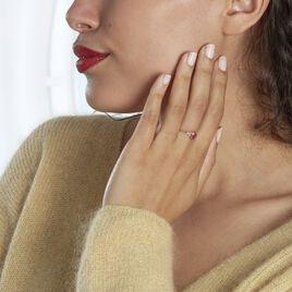 Bague Marie Or Jaune Rubis Et Diamant - Bagues solitaires Femme   Histoire d'Or