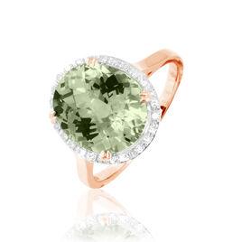 Bague Anna Or Rose Amethyste Et Diamant - Bagues avec pierre Femme   Histoire d'Or