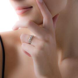 Bague Marcienne Argent Blanc - Bagues Coeur Femme   Histoire d'Or