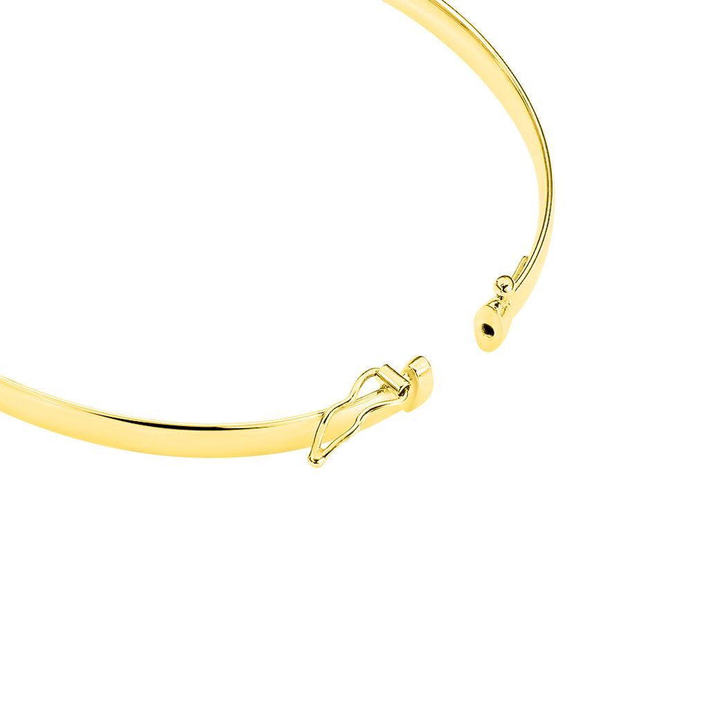 Bracelet Jonc Cynthia Fil Plat Lisse Or Jaune - Bracelets joncs Femme | Histoire d'Or