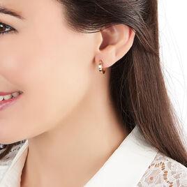 Créoles Cody Lisses Fil Carre Or Jaune - Boucles d'oreilles créoles Femme | Histoire d'Or