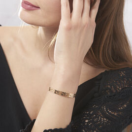 Bracelet Jonc Edmoneae Plaque Or Jaune - Bracelets fantaisie Femme   Histoire d'Or