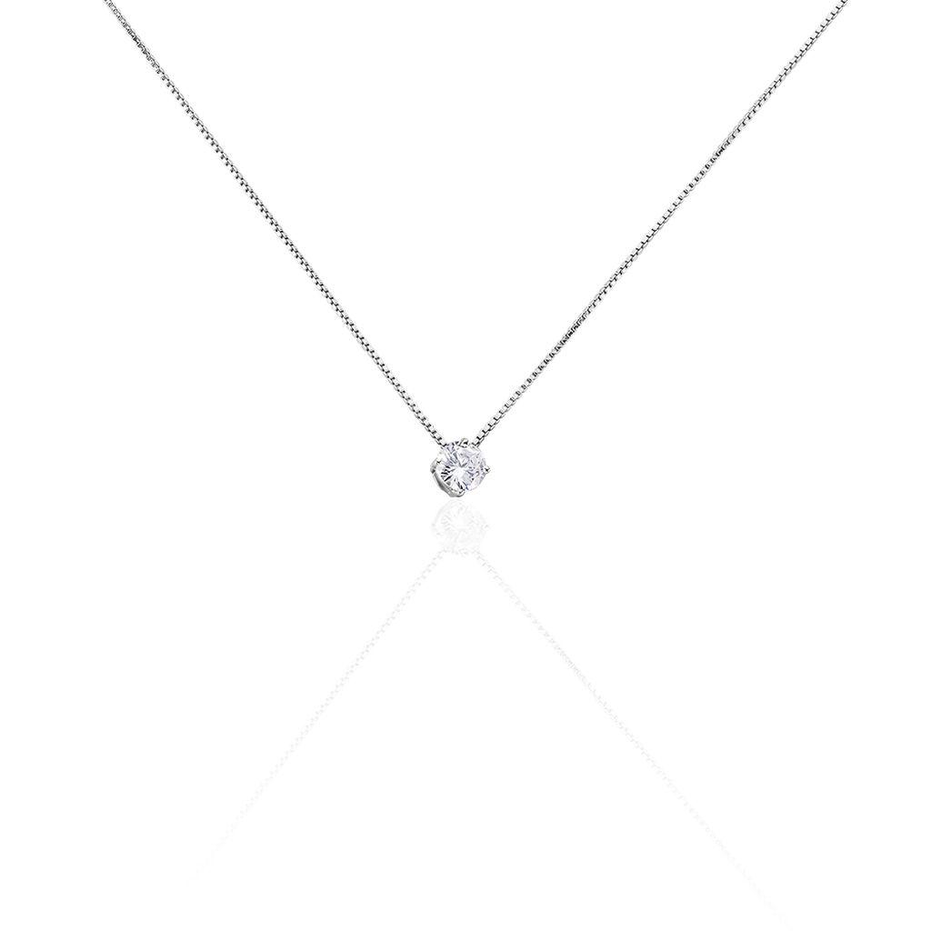 Collier Giulya Argent Blanc Oxyde De Zirconium - Colliers fantaisie Femme | Histoire d'Or