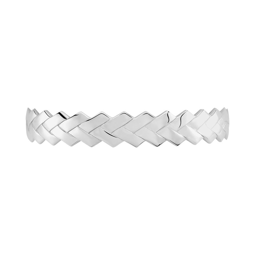 Bracelet Jonc Cylia Argent Blanc - Bracelets Trèfle Femme   Histoire d'Or