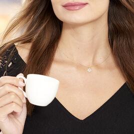Collier Terry Or Jaune Calcedoine Et Oxyde De Zirconium - Colliers Etoile Femme | Histoire d'Or