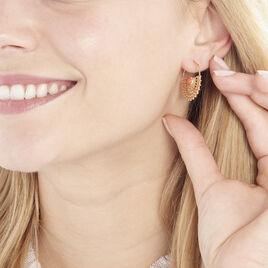Boucles D'oreilles Pendantes Naim Plaque Or Jaune Pierre De Synthese - Boucles d'oreilles créoles Femme   Histoire d'Or