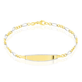 Bracelet Identite Bebe Or Bicolore Mila - Bracelets Communion Enfant | Histoire d'Or