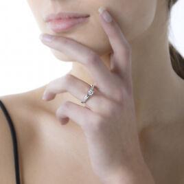 Bague Solitaire Loren Or Blanc Diamant - Bagues solitaires Femme   Histoire d'Or