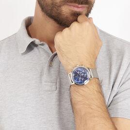 Montre Pierre Lannier Collection Week-end Vintage Bleu - Montres tendances Homme | Histoire d'Or